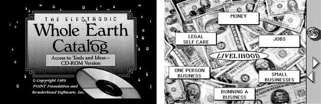 Cкриншоты интерфейса Whole Earth Catalog