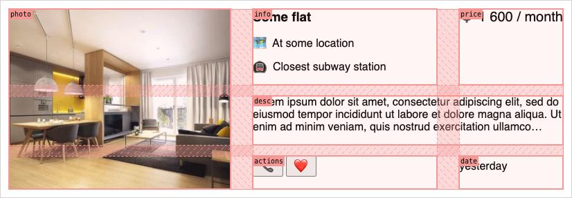 Карточка аренды квартиры, размер L